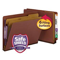 Smead Full End Tab Classification Folder