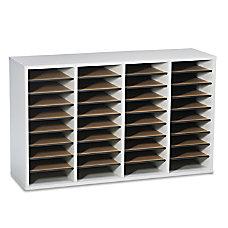 Safco Adjustable Wood Literature Organizer 24