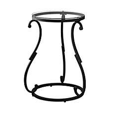 Monarch Specialties Metal Accent Table Round