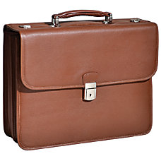 McKlein Ashburn Leather Briefcase Brown