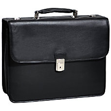 McKlein Ashburn Leather Briefcase Black