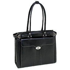 McKlein Leather Laptop Case Quincy Black