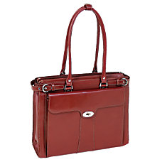 McKlein Leather Laptop Case Quincy Red
