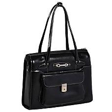 McKlein Leather Briefcase Wenonah Black