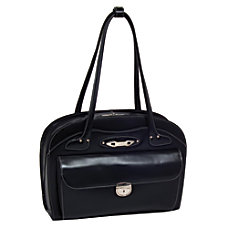 McKlein Leather Briefcase Lyndon Black