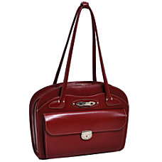 McKlein Leather Briefcase Lyndon Red