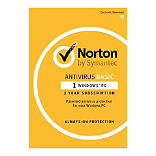 Norton AntiVirus Basic For 1 User