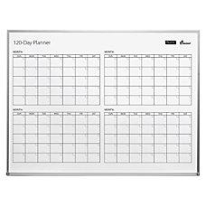 SKILCRAFT 4 Month Dry Erase Calendar