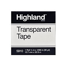 3M Highland 5910 Transparent Tape 12