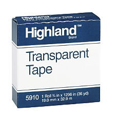 3M Highland 5910 Transparent Tape 34