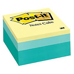 Post it Notes Designer Memo Cube