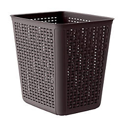 United Solutions Rectangular Plastic Wicker Wastebasket