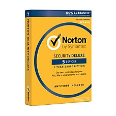 Norton Security Deluxe For 5 Devices
