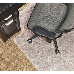 Carpet Mat For Desk Chair realspace economy chair mat for low pile carpets 36 w x 48 d