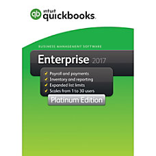 QuickBooks Desktop Enterprise Platinum 2017 For