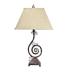 Elegant Designs Pinwheel Scroll Table Lamp