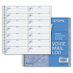 TOPS Voice Message Log Book 50