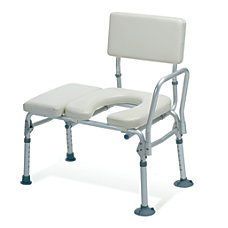Guardian Padded Commode Transfer Bench Tan