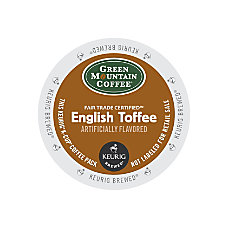 Green Mountain Coffee English Toffee Coffee