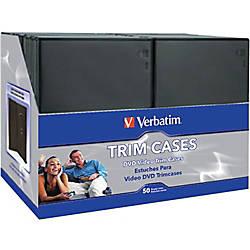 Verbatim CDDVD Black Video Trimcases 50pk