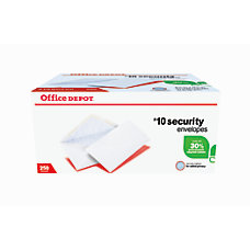 Office Depot Brand Security Envelopes 10