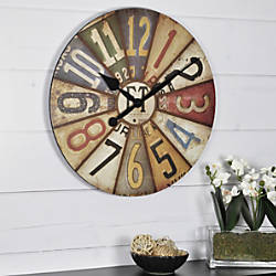 FirsTime Vintage Plates Wall Clock 15