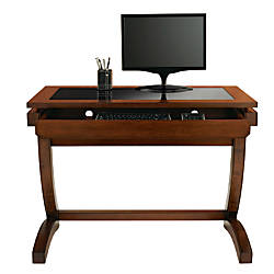 Realspace Coastal Ridge Writing Desk MahoganyBlack