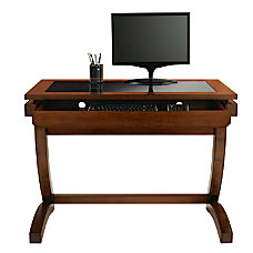 Realspace Coastal Ridge Writing Desk MahoganyBlack