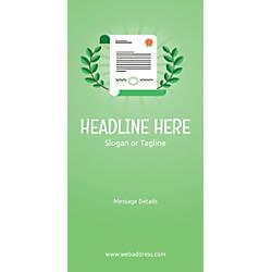 Custom Vertical Banner Certificate