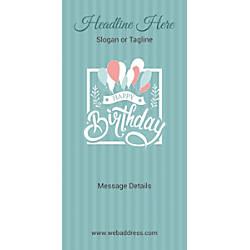 Custom Vertical Banner Birthday Balloons