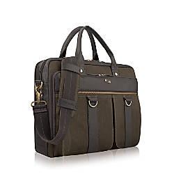 Solo Bradford 156 Laptop Briefcase OliveEspresso