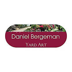 Full Color Shaped Name Badge 1