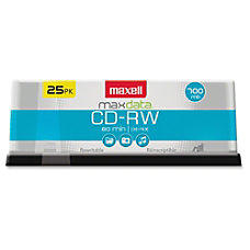 Maxell CD RW Rewritable Media Spindle