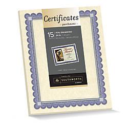Southworth Foil Enhanced Preprinted Certificate Refills