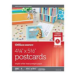 Office Depot Brand InkjetLaser Post Cards