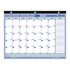 Brownline FSC Certified Monthly Desk Pad