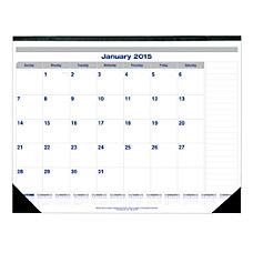 Blueline Monthly Desk Pad Calendar 22