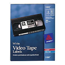 Avery Laser Video Tape Labels White