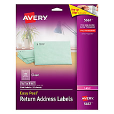 Avery Easy Peel Clear Laser Return