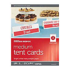 Office Depot Brand InkjetLaser Tent Cards