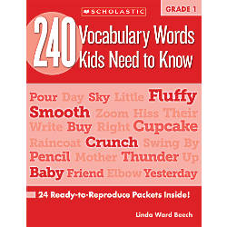 Scholastic 240 Vocabulary Words Kids Need