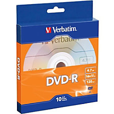 Verbatim DVD R Bulk Box Pack