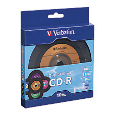 Verbatim Digital Vinyl CD R Bulk