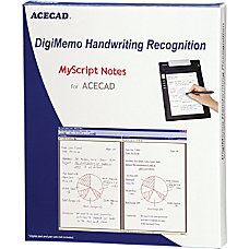 MyScript Notes For ACECAD Traditional Disc