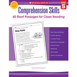 Scholastic Comprehension Skills 40 Short Passages
