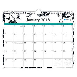 Blue Sky Monthly Academic Wall Calendar