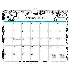 Blue Sky Monthly Academic Wall Calendar