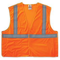 GloWear Orange Econo Breakaway Vest LargeExtra