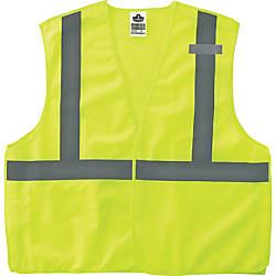 GloWear Lime Econo Breakaway Vest SmallMedium