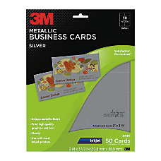 3M Metallic Business Cards 3 12